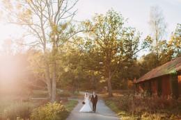 Bröllop Schenströmska Herrgården lantligt Höst Swedish Wedding Bröllopsfotograf Henrik Mill Västerås Sverige