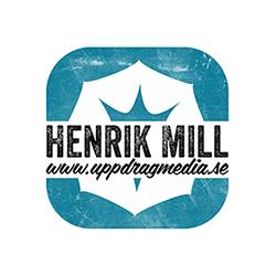 Fotograf Henrik Mill Västerås Sverige logo