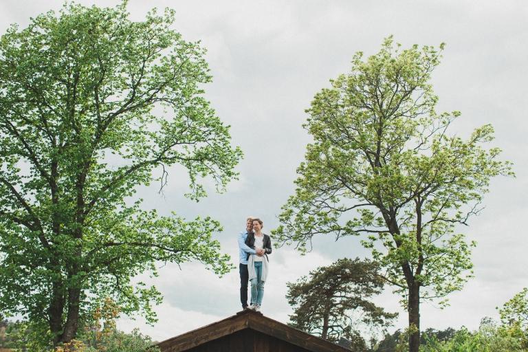 Emelie Jonas Bröllopsmöte fotografering sollentuna