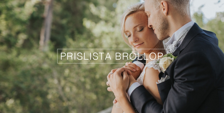 Prislista Bröllop Fotograf Henrik Mill Västerås Sverige