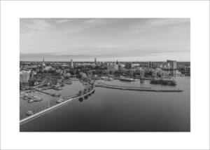 Västerås stadsvy höst 2018 fotograf Henrik Mill köp fine art print www.henrikmill.com